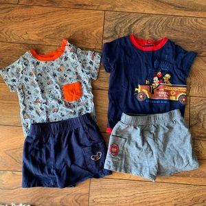 2 sets baby boy 12 mo Disney parks outfits